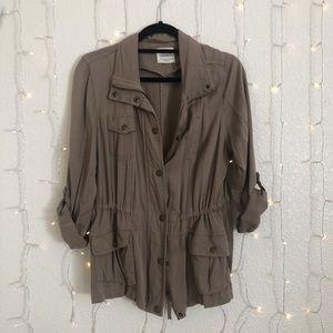 tan utility style jacket